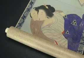 Japanese Shunga Picture Scroll