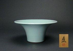 Japanese Celadon Vase by Suwa Sozan