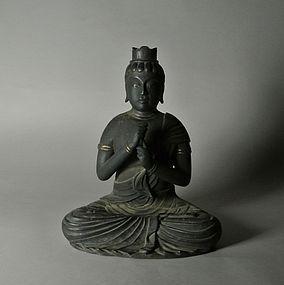 Japanese Wood Statue Dainichi Nyorai