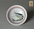 Japanese Kutani Sake-cup by Takekoshi Toshiaki