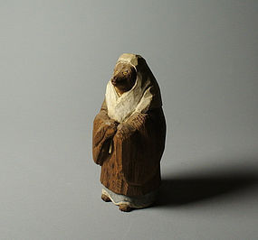 Japanese Wood Statue Fox, Hakuzosu