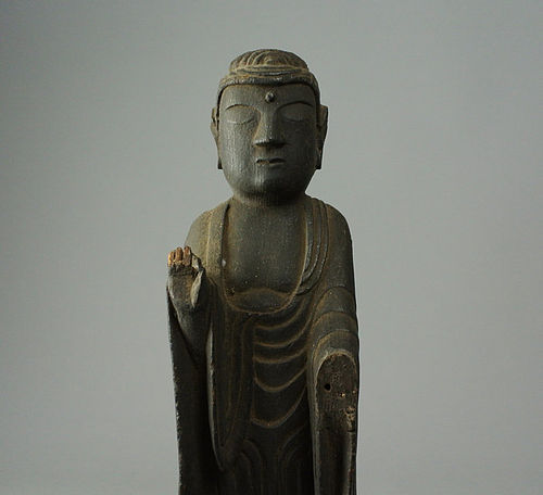 Japanese Wooden Buddha Statue