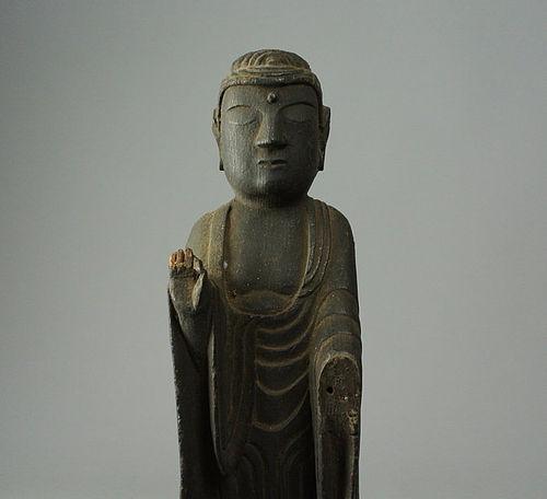 Japanese Wooden Buddha Statue