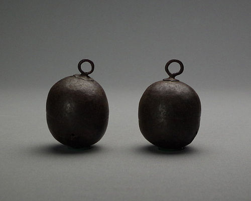 A Pair of Korean Joseon Iron Bells