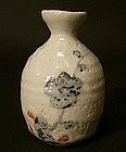 Japanese Stoneware Shino Flower Vase