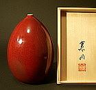 Japanese Arita-yaki Shinsha Flower Vase, Maeda Yasuaki