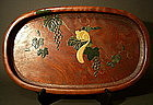 Japanese Wooden Lacquer Makie Large Tray