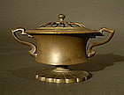 Japanese Bronze Lobed Incense Burner
