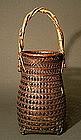Japanese Bamboo Ikebana Basket by Chikuichisai