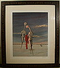 Signed and Framed Original Surrealism Lithograph