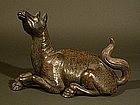 Japanese Pottery Iwao-yaki Horse Okimono, Edo Period