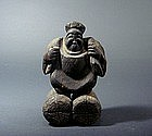 Japanese Wood Carving Statue, Daikoku