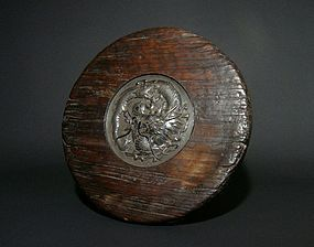 Japanese Hammered Silver Dragon Relife