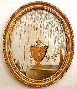 Silk Embroidered Mourning Picture, c 1800