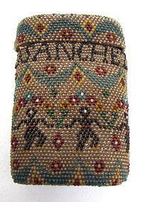 Antique Beadwork Case, Dancing Figures