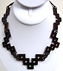 Fantastic Transitional Victorian Tortoiseshell Necklace