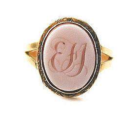 Lovely Hardstone Georgian Lady�s Signet Ring
