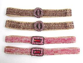 Art Deco Beaded Bands -- Two Pair