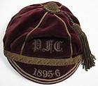Antique Velvet Rugby Cap, 1895, PFC