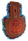 19th C Silk Embroidered and Beaded Coin Purse