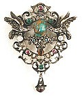 Fabulous 19th C Austro-Hungarian Brooch