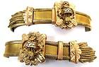 Pair of Victorian Gold Filled Mesh Slide Bracelets