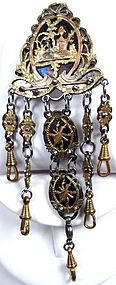 Fantastic Georgian Gold, Silver and Steel Chatelaine