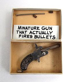 Tiny Antique Toy Pistol -- Really Works!