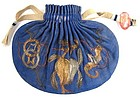 Antique Chinese Double-Sided Silk Purse