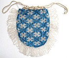 Antique Beaded Reticule, Maltese Cross