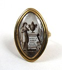 "Georgian Mourning Ring, ""Sacred Will I Keep Thy.."""