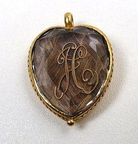 Beautiful Stuart Crystal Heart Pendant, Gold Initials