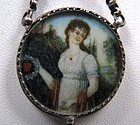 Antique Love Token Pendant, Portrait, Rare Coin