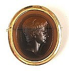 Rare Georgian Intaglio Brooch, Marchant, 1800
