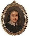 Miniature Portrait of Man, Oil on Copper