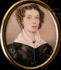 Miniature Portrait of Young Lady, ca 1830