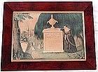 Original N Currier Mourning Print Litho 1848