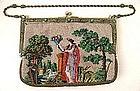 Antique Beaded Figural Purse, Jeweled Frame