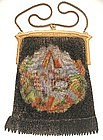 Unique Large Village Scenic Mesh Purse, W & D