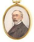 American Portrait Miniature by Baer, 1906