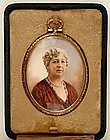Superb Signed Early 20th C Portrait Miniature