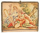 EX Fine Silk Tapestry Purse, Lovers & Lamb