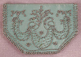 Cool Cut Steel Beaded Silk Purse, Wallet