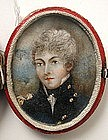 Portrait Miniature, English Officer, 1800