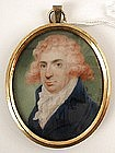 Miniature Portrait, Man Pink Hair, Henry Bone