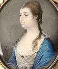 Portrait Miniature of Lady by James Reily