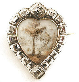 Phenomenal Early Mourning Brooch, Diamonds!