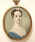 Portrait Miniature of Mary Cox by P. Carwardine, 1765