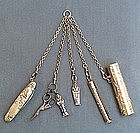 Wonderful 19th Century Gilt Metal Chatelaine