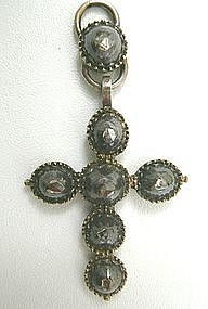 Superb 18th C Diamond and Silver Cross